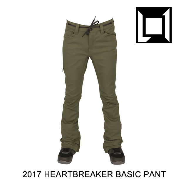 2017 L1 エルワン パンツ WOMEN'S HEARTBREAKER BASIC PANT MILITARY