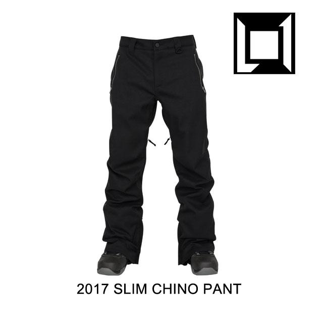 2017 L1 エルワン パンツ SLIM CHINO PANT BLACK