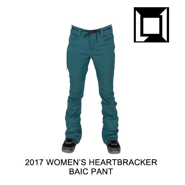 2017 L1 エルワン パンツ WOMEN'S HEARTBREAKER BASIC PANT DEEP TEAL