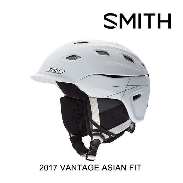 2017 SMITH スミス ヘルメット HELMET VANTAGE MATTE WHITE ASIAN FIT
