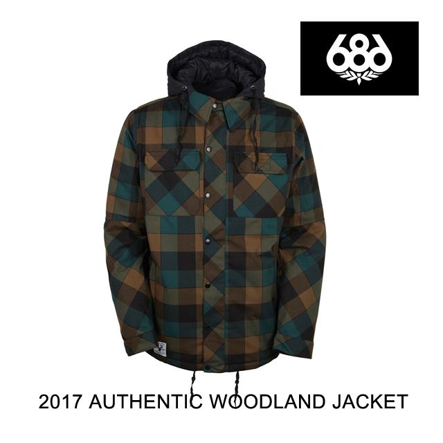 2017 686 シックスエイトシックス ジャケット AUTHENTIC WOODLAND INSULATED JACKET BLACK