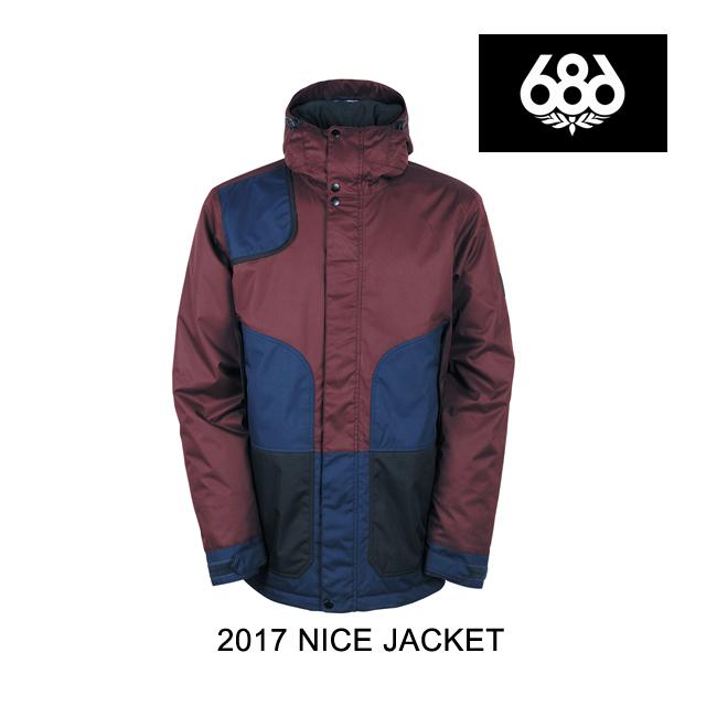 2017 686 シックスエイトシックス ジャケット FOREST BAILEY COSMIC NICE INSULATED JACKET BLACK RUBY COLORBLOCK