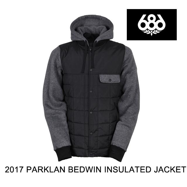 2017 686 シックスエイトシックス ジャケット PARKLAN BEDWIN INSULATED JACKET BLACK