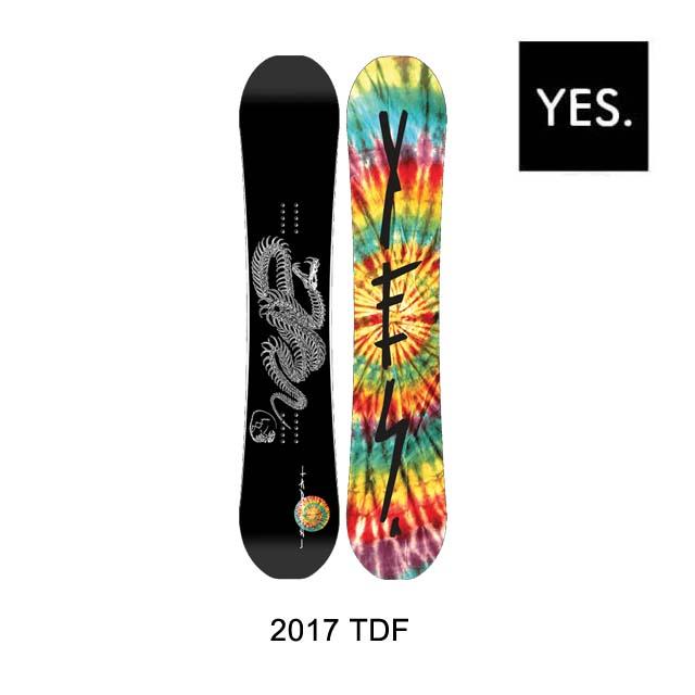 2017 YES イエス スノーボード SNOWBOARD TDF 152