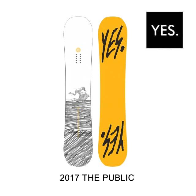 2017 YES イエス スノーボード SNOWBOARD PUBLIC 148