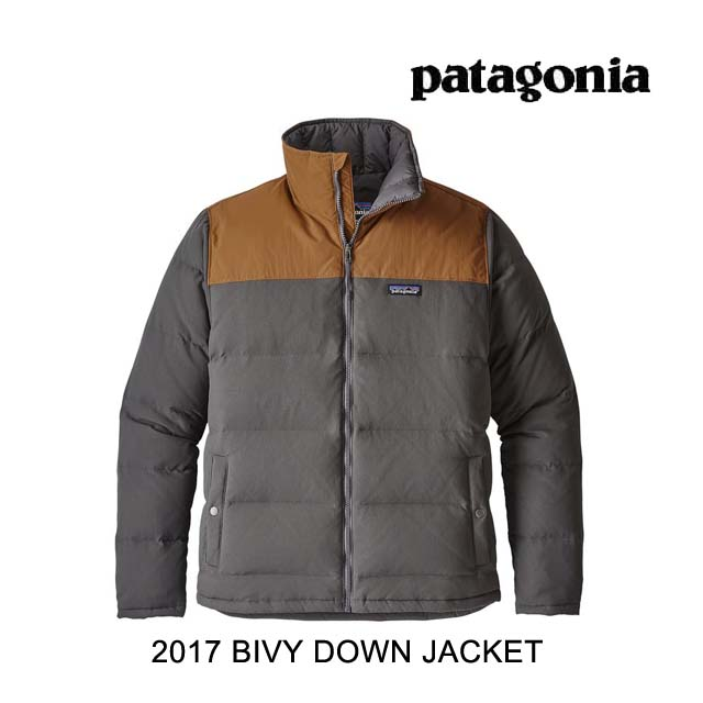 2017 PATAGONIA パタゴニア ジャケット BIVY DOWN JACKET FYBB FORGE GREY W/BEAR BROWN