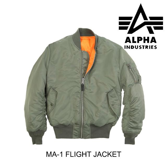 ALPHA INDUSTRIES アルファインダストリーズ ジャケット MA-1 FLIGHT JACKET SAGE GREEN