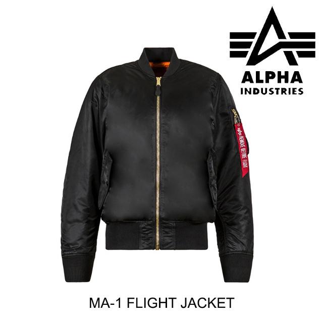 ALPHA INDUSTRIES アルファインダストリーズ ジャケット MA-1 FLIGHT JACKET BLACK