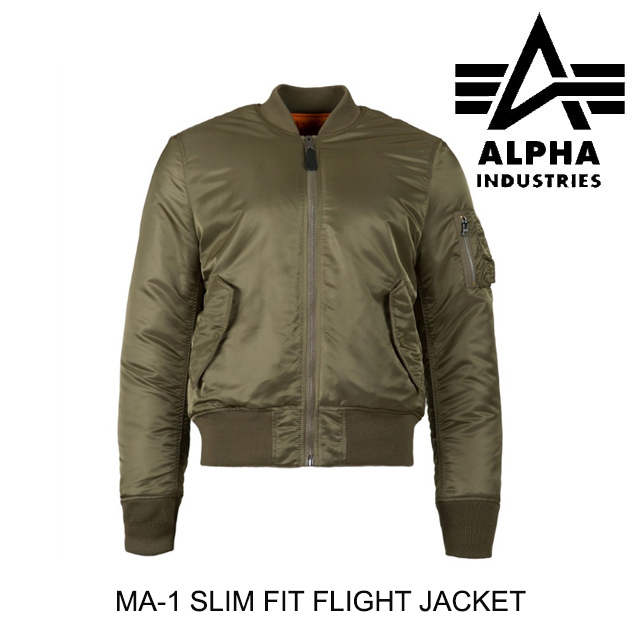 ALPHA INDUSTRIES アルファインダストリーズ ジャケット MA-1 SLIM FIT FLIGHT JACKET SAGE GREEN