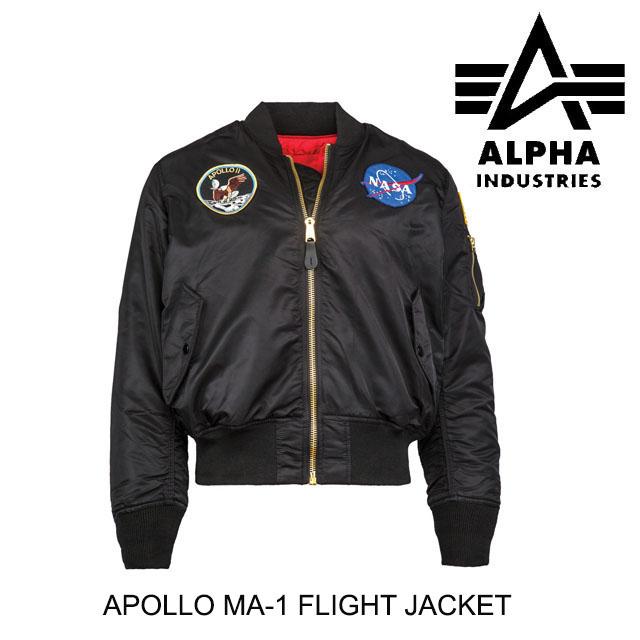 ALPHA INDUSTRIES アルファインダストリーズ ジャケット APOLLO MA-1 FLIGHT JACKET BLACK