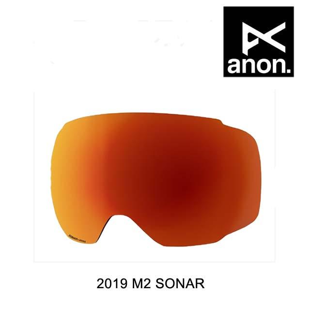 2019 BURTON バートン ANON アノン ゴーグル スペアレンズ GOGGLE M2 SONAR LENS SONAR RED