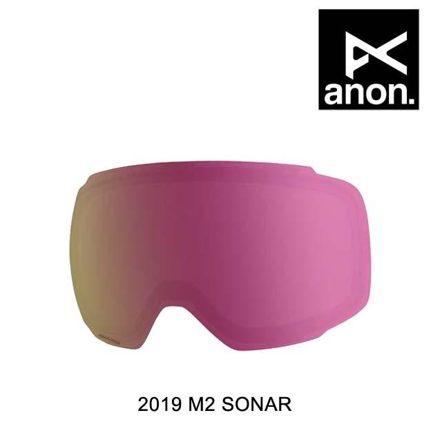 2019 BURTON バートン ANON アノン ゴーグル スペアレンズ GOGGLE M2 SONAR LENS SONAR PINK