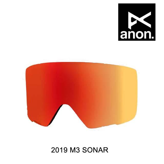 2019 BURTON バートン ANON アノン ゴーグル スペアレンズ GOGGLE M3 SONAR LENS SONAR RED