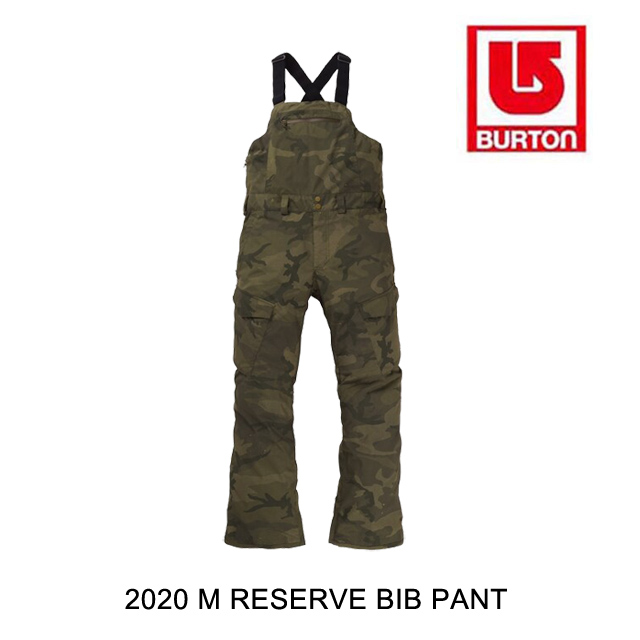 2020 BURTON バートン パンツ M RESERVE BIB PANT WORN CAMO