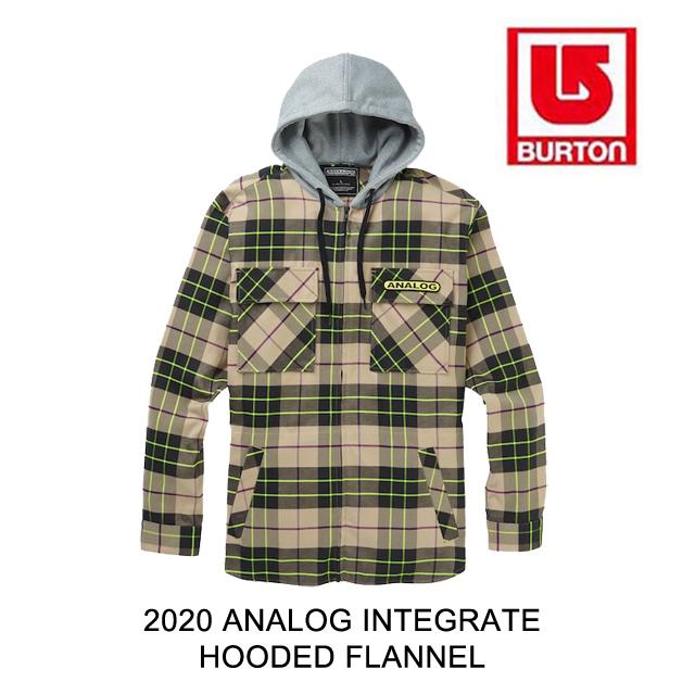 2020 BURTON バートン アナログ インテグレート ジャケット ANALOG INTEGRATE HOODED FLANNEL SAFARI BLOOM PLAID