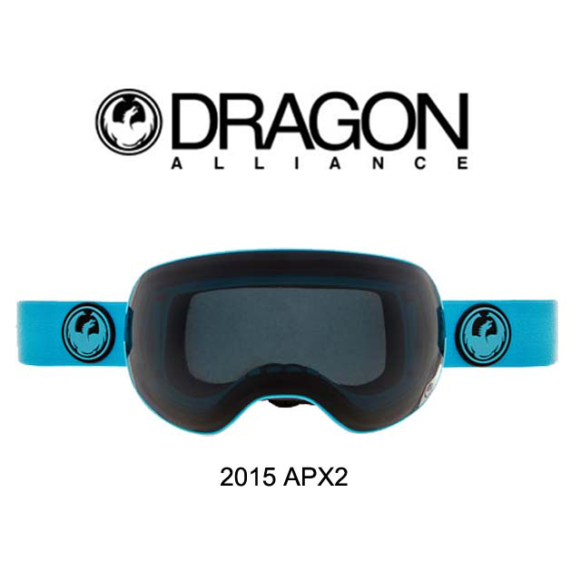 2015 DRAGON ドラゴン ゴーグル GOGGLE APX2 BLUE/DARK SMOKE+YELLOW BLUE ION