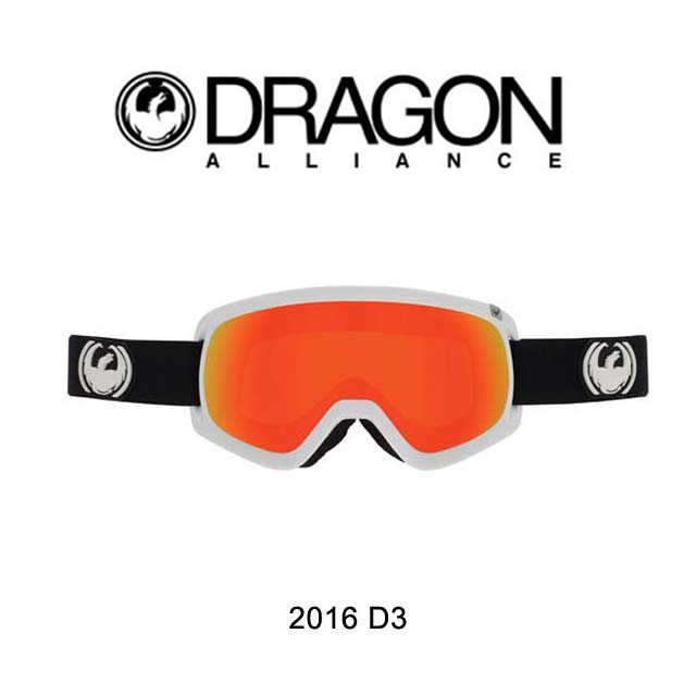 2016 DRAGON ドラゴン ゴーグル GOGGLE D3 INVERSE/RED ION + YELLOW BLUE ION