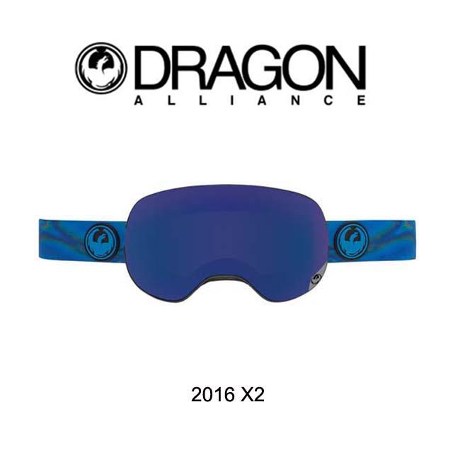 2016 DRAGON ドラゴン ゴーグル GOGGLE X2 SPILL/DARK SMOKE BLUE+YELLOW RED ION