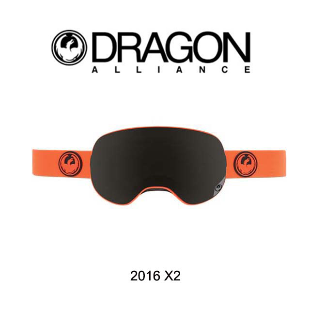 2016 DRAGON ドラゴン ゴーグル GOGGLE X2 SAFETY/DARK SMOKE+YELLOW BLUE ION+ROSE
