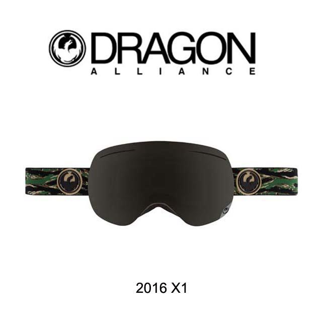 2016 DRAGON ドラゴン ゴーグル GOGGLE X1 HUNTER/DARK SMOKE BLUE+YELLOW BLUE ION+ROSE