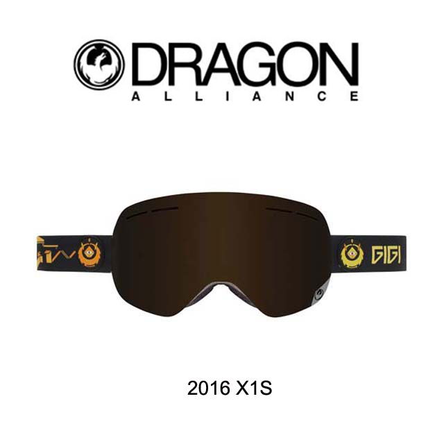 2016 DRAGON ドラゴン ゴーグル GOGGLE X1S GIGI SIGNATURE/DARK SMOKE+YELLOW RED ION