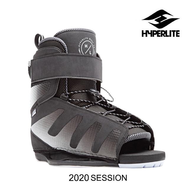 2020 HYPERLITE ハイパーライト セッション ブーツ SESSION BLACK ウェイクボード WAKEBOARD BOOTS 7-10.5