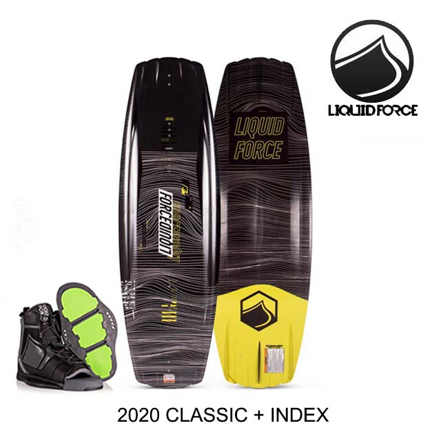 2020 LIQUID FORCE リキッドフォース ウェイクボード WAKEBOARD CLASSIC 134 + バインディング BINDING INDEX BLACK 8-12