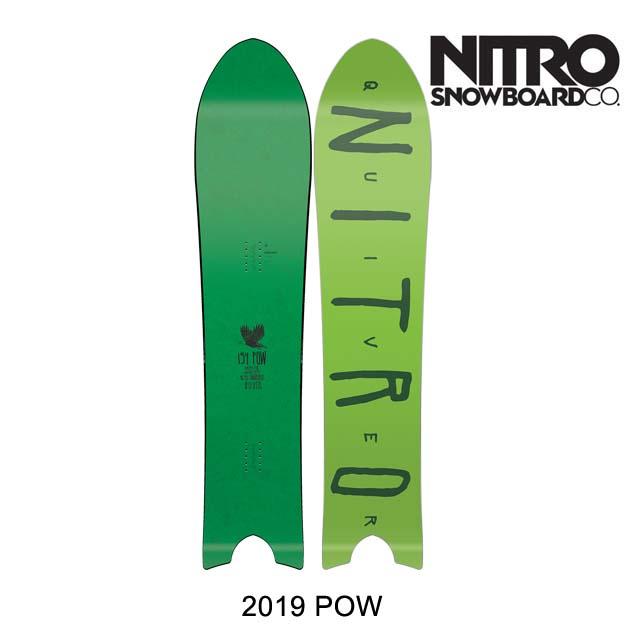 2019 NITRO ナイトロ スノーボード SNOWBOARD POW 154