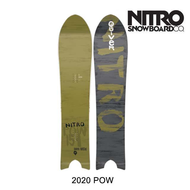 2020 NITRO ナイトロ パウ スノーボード SNOWBOARD POW 154 QUIVER SERIES クイバーシリーズ