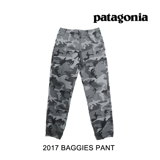 2017 PATAGONIA パタゴニア パンツ BAGGIES PANTS FCFG FOREST CAMO/FORGE GREY