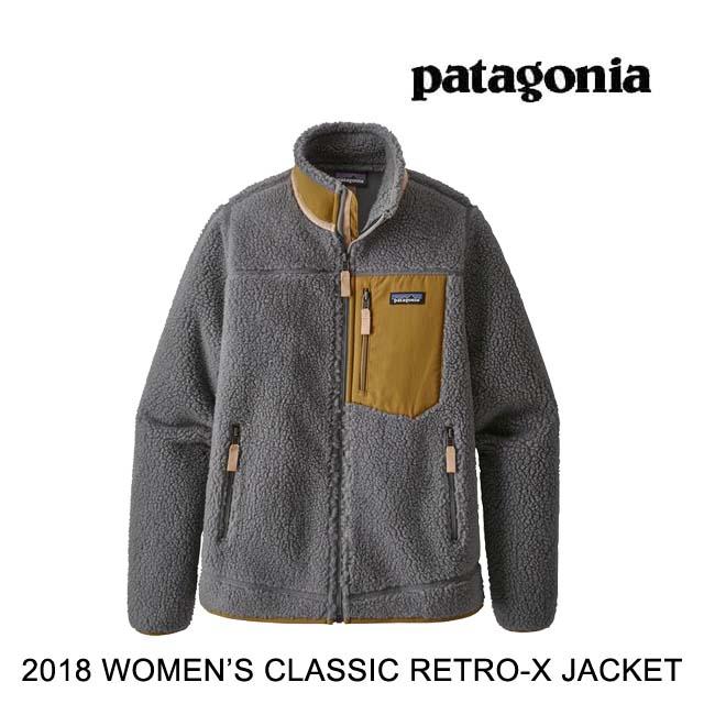 2018 PATAGONIA パタゴニア ジャケット WOMEN'S CLASSIC RETRO-X JACKET FEA FEATHER GREY