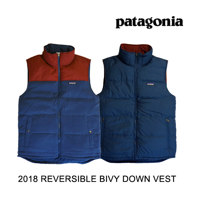 2018 PATAGONIA パタゴニア ベスト REVERSIBLE BIVY DOWN VEST SNBL STONE BLUE