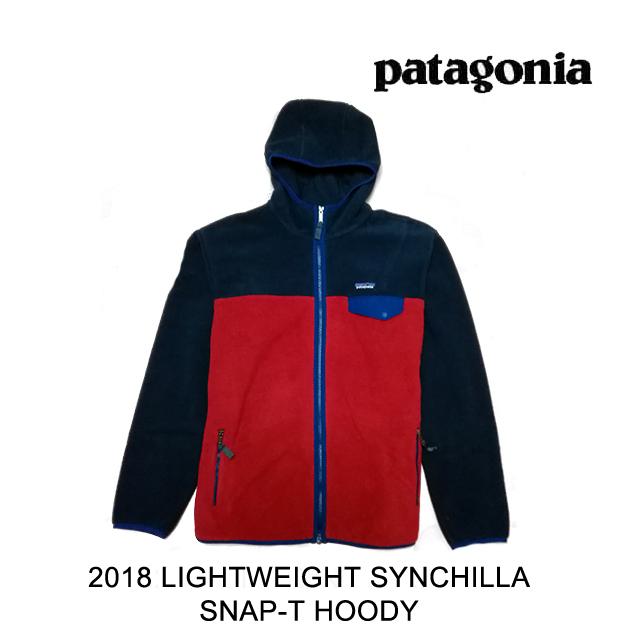 2018 PATAGONIA パタゴニア ジャケット LIGHTWEIGHT SYNCHILLA SNAP-T HOODY CSRD CLASSIC RED