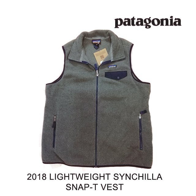 2018 PATAGONIA パタゴニア ベスト LIGHTWEIGHT SYNCHILLA SNAP-T VEST NKNV NICKEL W/NAVY BLUE