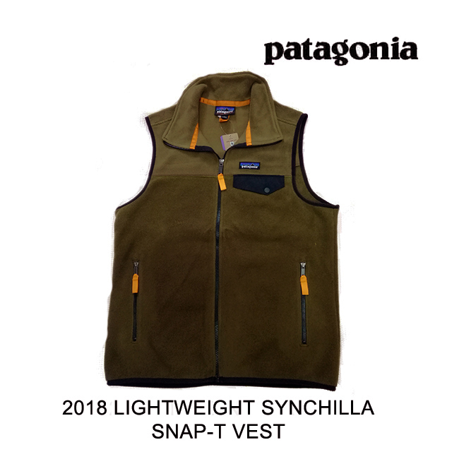 2018 PATAGONIA パタゴニア ベスト LIGHTWEIGHT SYNCHILLA SNAP-T VEST SEMT SEDIMENT