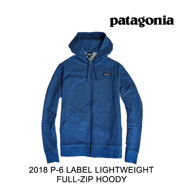 2018 PATAGONIA パタゴニア フーディー P-6 LABEL LIGHTWEIGHT FULL-ZIP HOODY SPRB SUPERIOR BLUE
