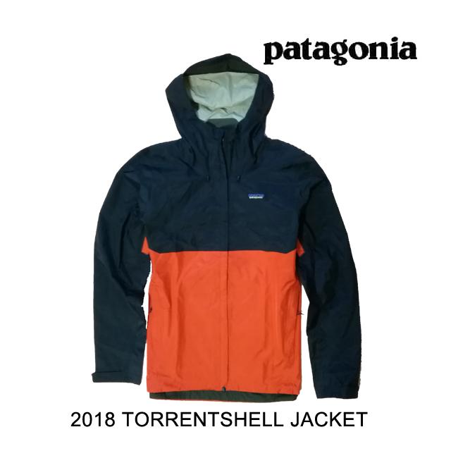 2018 PATAGONIA パタゴニア ジャケット TORRENTSHELL JACKET NPTR NAVY BLUE W/PAINTBRUSH RED