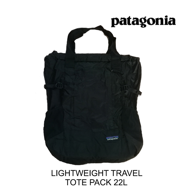 PATAGONIA パタゴニア トートバッグ LIGHTWEIGHT TRAVEL TOTE PACK 22L BLK BLACK