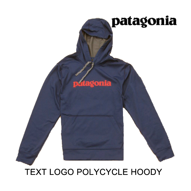 PATAGONIA パタゴニア フーディー TEXT LOGO POLYCYCLE HOODY CNY CLASSIC NAVY 39555