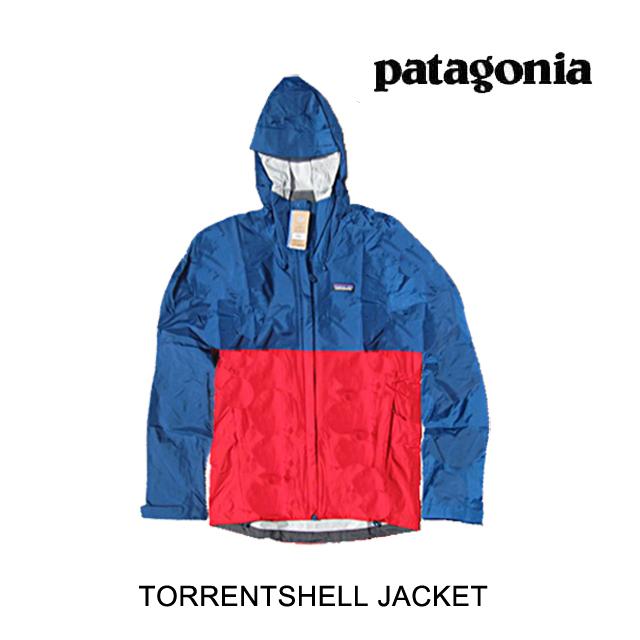 PATAGONIA パタゴニア ジャケット TORRENTSHELL JACKET BSFE BIG SUR BLUE W/FIRE RED