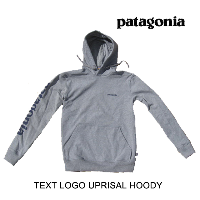 PATAGONIA パタゴニア フーディー TEXT LOGO UPRISAL HOODY GLH GRAVEL HEATHER