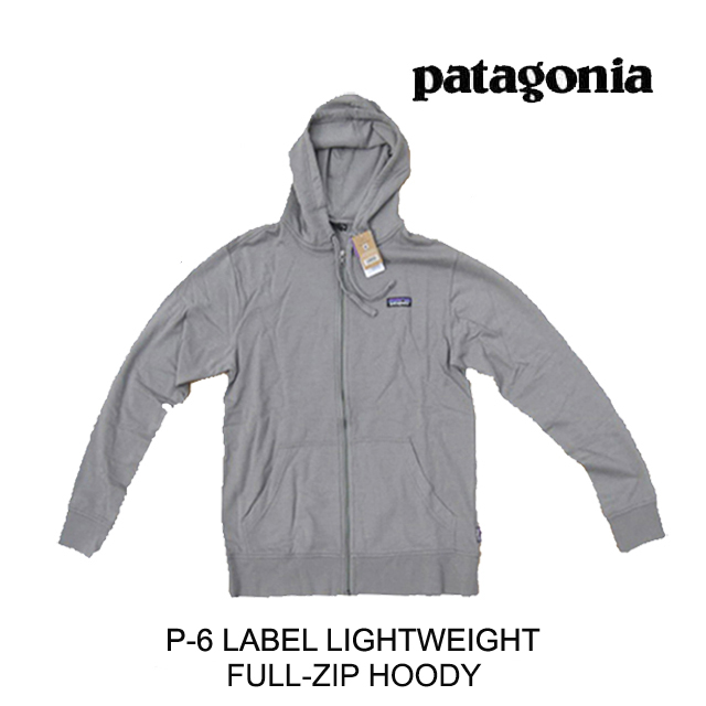 PATAGONIA パタゴニア フーディー P-6 LABEL LIGHTWEIGHT FULL-ZIP HOODY FEA FEATHER GREY