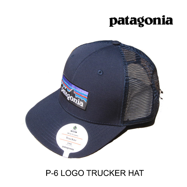 PATAGONIA パタゴニア 帽子 ハット P-6 LOGO TRUCKER HAT NVNV NAVY 青 W/NAVY 青