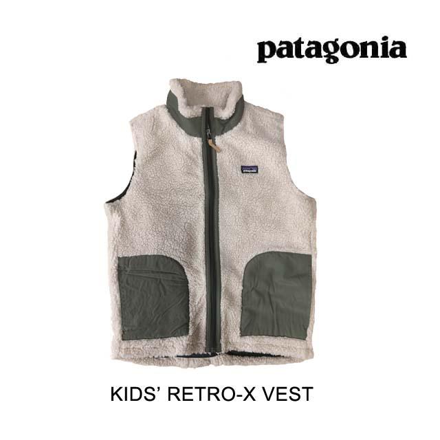 PATAGONIA パタゴニア ベスト KIDS' RETRO-X VEST NAIB NATURAL W/INK BLACK 子供用 ※サイズ注意 65619