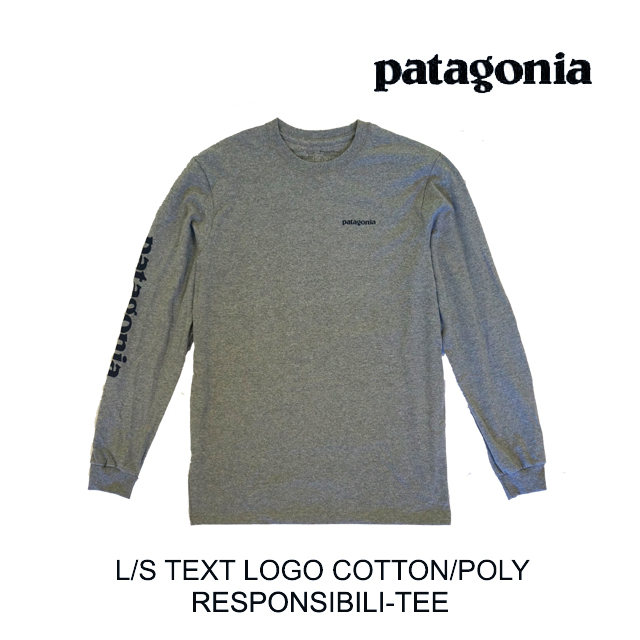 PATAGONIA パタゴニア ロングスリーブ テキスト ロゴ レスポンシビリティー Tシャツ LONG-SLEEVED TEXT LOGO RESPONSIBILI-TEE GLH GRAVEL HEATHER 39042