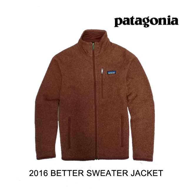 2016 PATAGONIA パタゴニア ジャケット BETTER SWEATER JACKET CDRR CINDER RED