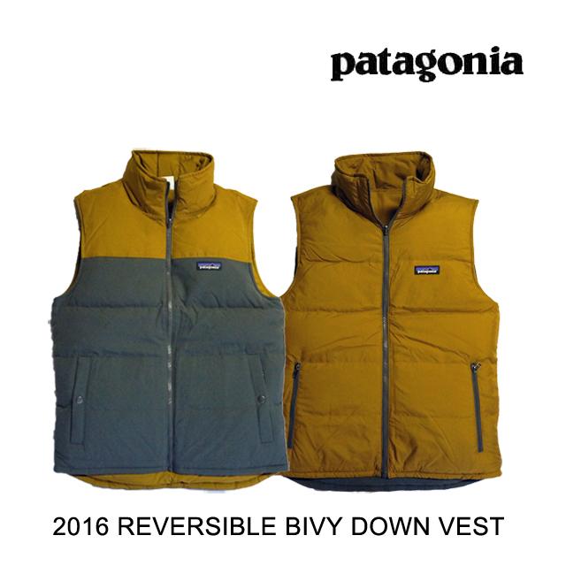 2016 PATAGONIA パタゴニア ベスト REVERSIBLE BIVY DOWN VEST FGE FORGE GREY