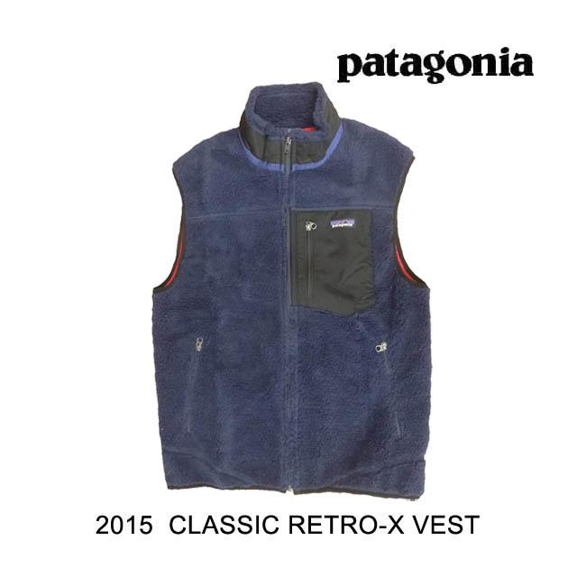 2015 PATAGONIA パタゴニア レトロX ベスト CLASSIC RETRO-X VEST CNY CLASSIC NAVY