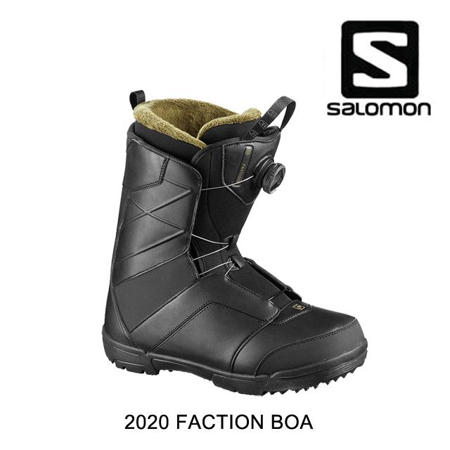 2020 SALOMON サロモン スノーブーツ SNOW BOOT FACTION BOA BLACK