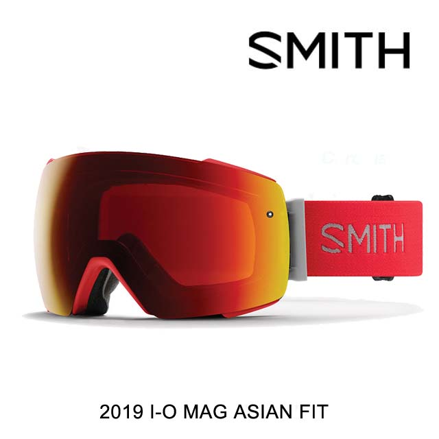 2019 SMITH スミス ゴーグル GOGGLE I/O MAG RISE/CHROMAPOP SUN RED MIRROR+CHROMAPOP STORM ROSE FLASH ASIAN FIT